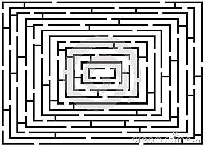 Rectangular black and white labyrinth