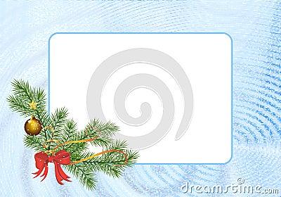 Rectangular Christmas frame, cdr vector