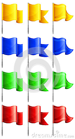 Rectangular flags