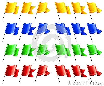 Rectangular flags