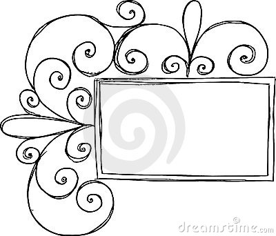 Rectangular Frame with Swirl