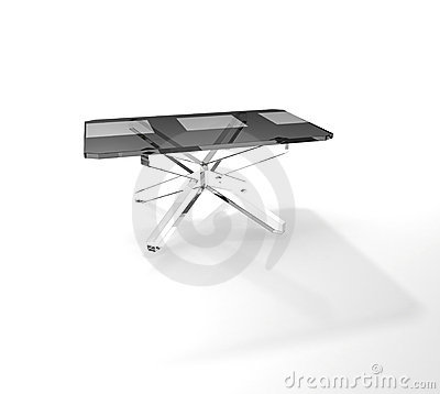Rectangular glass table