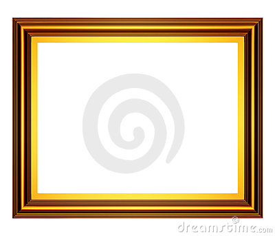 Rectangular gold frame