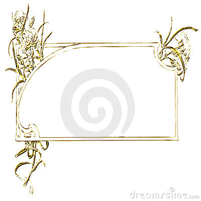 Rectangular gold frame ornament