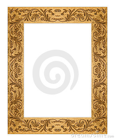 Rectangular Grunge Dirty Old Golden Picture Frame