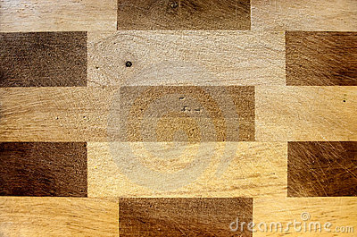 Rectangular pattern wood