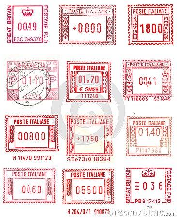 Rectangular postage stamps