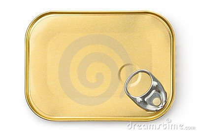 Rectangular tin with ring pull