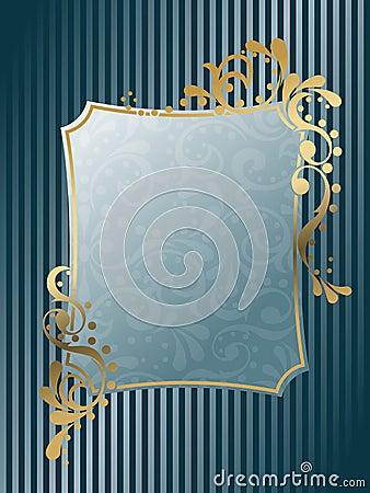 Rectangular vintage Victorian frame