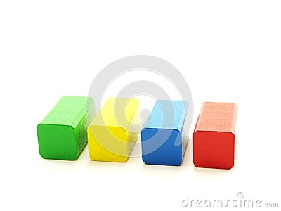 Rectangular wooden shaped pieces