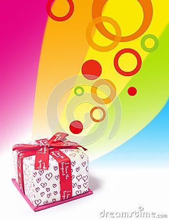 Rectángulo de regalo del amor