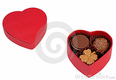 Rectángulo del chocolate de la tarjeta del día de San Valentín