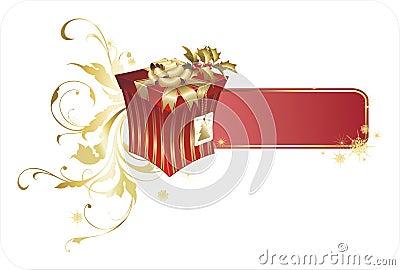 Rectángulo del regalo de Navidad