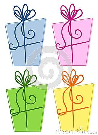 Rectángulos de regalo abstractos coloridos