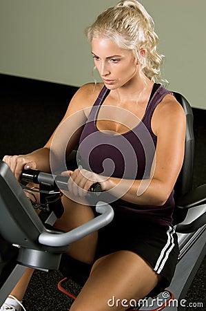 Free Recumbent Exercise Bike Royalty Free Stock Photo - 2668555