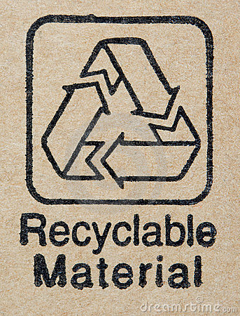 Recyclable materials label