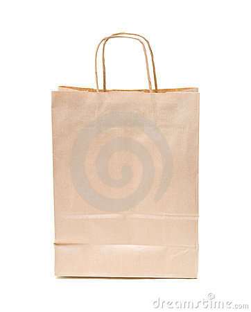 Recyclable; reusable brown paper bag