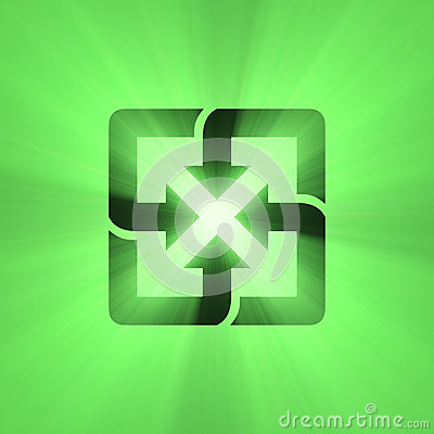 Recyclable sign green light flare