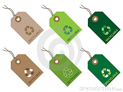 Recyclable tags