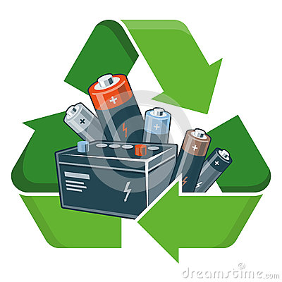 Free Recycle Batteries Stock Image - 54259281