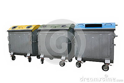Recycle bin containers