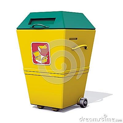 Recycle bin paper