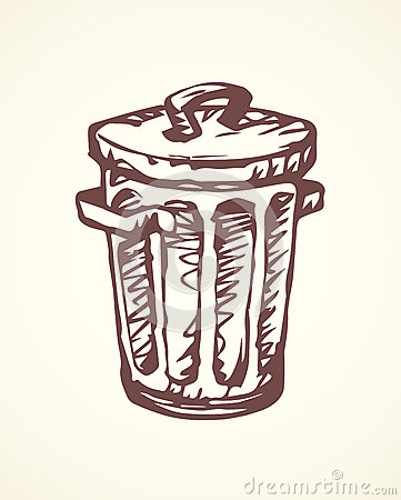 Free Recycle Bin. Vector Drawing Royalty Free Stock Photography - 87623237