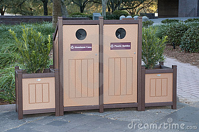 Recycle Bins with Planters
