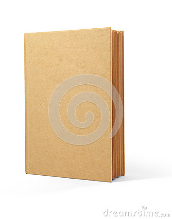Recycle book brown cover isolated on white backgro