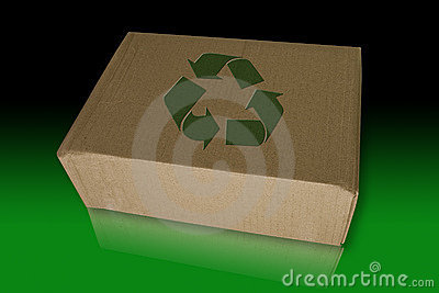 Recycle box on reflect floor