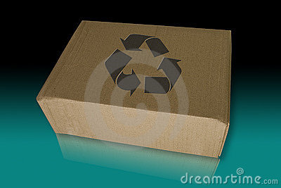 Recycle box on the reflected floor