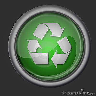 Recycle button icon symbol