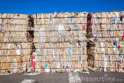 Recycle Cardboard Stacks  Editorial Image