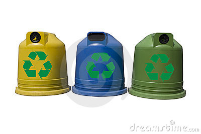 Recycle containers for glass, metal, plastic