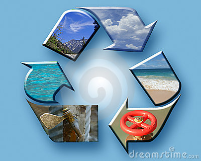 Recycle the Earth collage