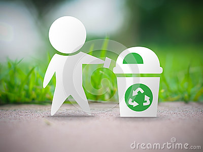 Recycle ecology concept Cartoon Illustration