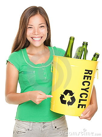 Free Recycle Girl Royalty Free Stock Photos - 17336958