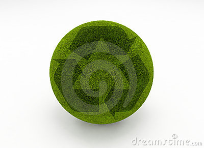 Recycle grass globe