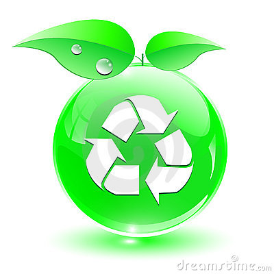 Recycle, green icon