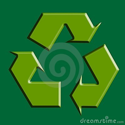 Recycle green symbol illustration