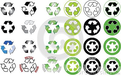 Recycle icon set - ready