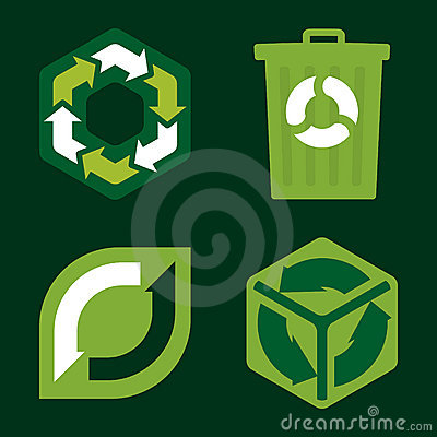 Recycle icons (vector)