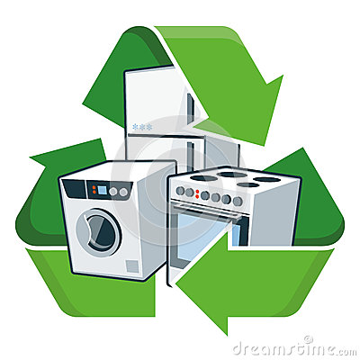 Recycle Large Electronic Appliances Stock Vector Image