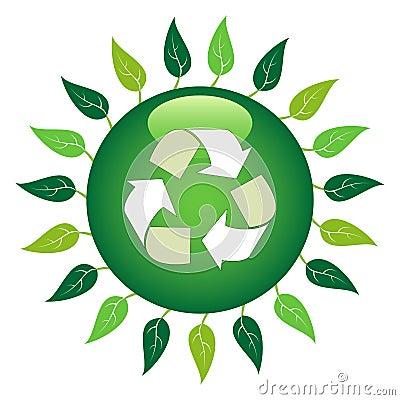 Recycle Leaf Symbol