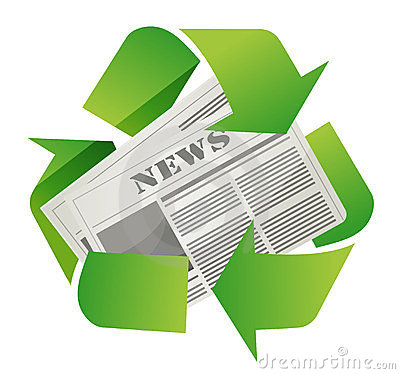 Recycle newspaper design