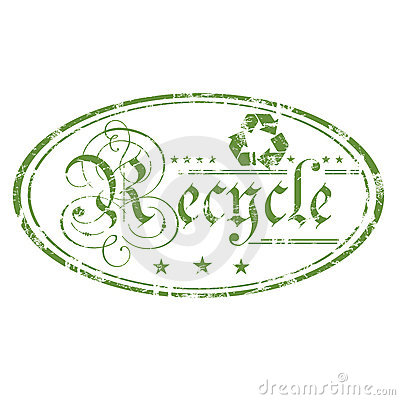 Recycle oval stamp