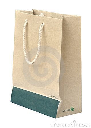 Free Recycle Paper Bag Royalty Free Stock Image - 16629876