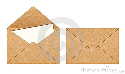 Recycle Paper envelope with Blank White Paper