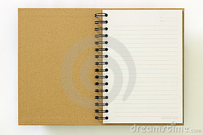 Recycle paper notebook first page