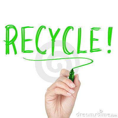 Recycle - recycling text